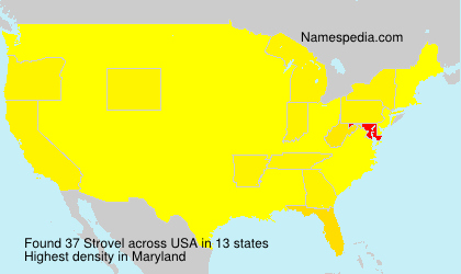 Surname Strovel in USA