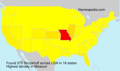Familiennamen Struckhoff - USA