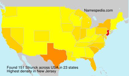 Surname Strunck in USA