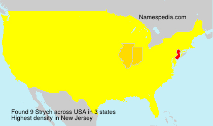 Surname Strych in USA