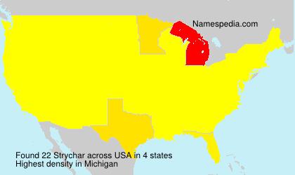 Familiennamen Strychar - USA