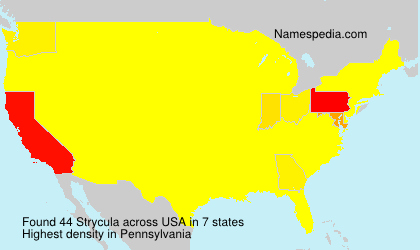 Surname Strycula in USA