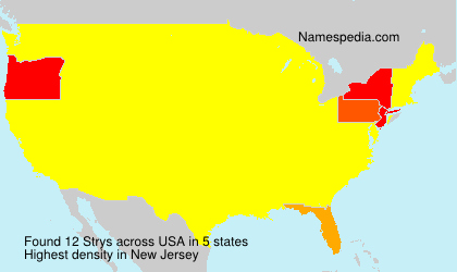 Surname Strys in USA