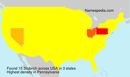 Surname Stubrich in USA