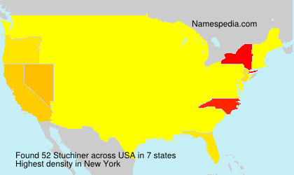 Surname Stuchiner in USA