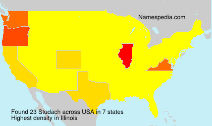 Familiennamen Studach - USA