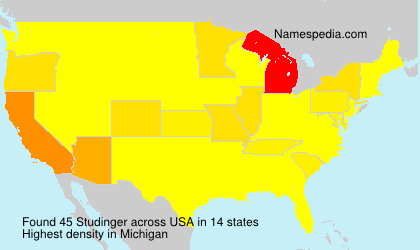 Surname Studinger in USA