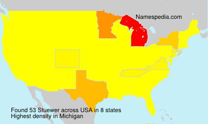 Surname Stuewer in USA