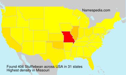 Surname Stufflebean in USA