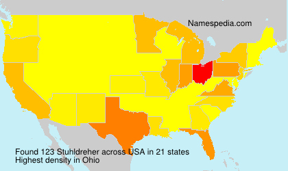 Surname Stuhldreher in USA