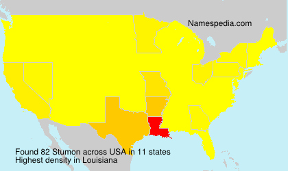 Surname Stumon in USA