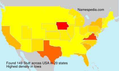 Surname Stutt in USA