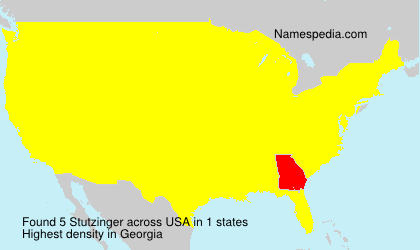 Familiennamen Stutzinger - USA
