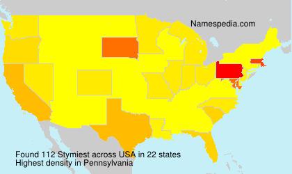 Familiennamen Stymiest - USA