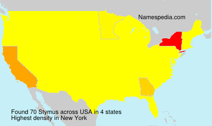 Surname Stymus in USA