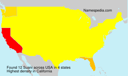 Surname Suani in USA