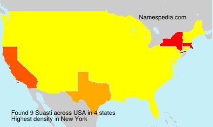 Surname Suasti in USA