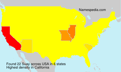 Surname Suay in USA