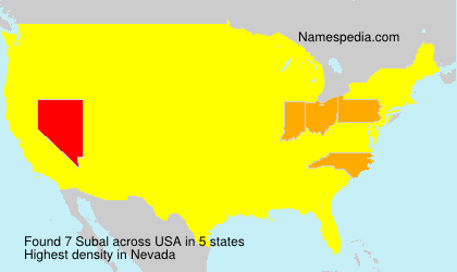 Surname Subal in USA