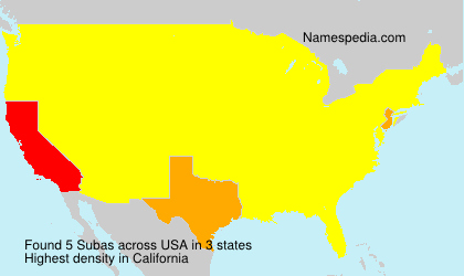 Surname Subas in USA