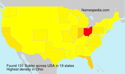 Surname Subler in USA