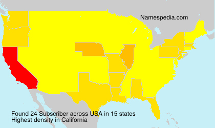 Surname Subscriber in USA