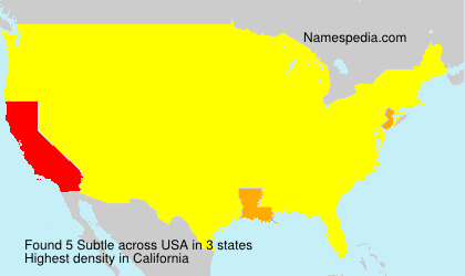 Surname Subtle in USA