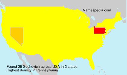 Familiennamen Suchevich - USA