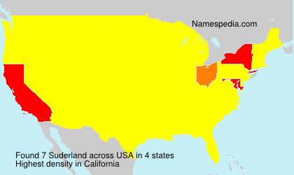 Surname Suderland in USA
