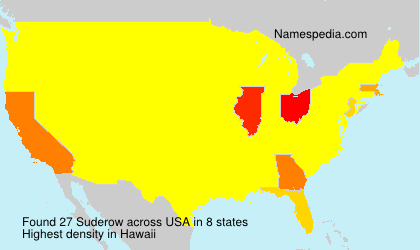 Surname Suderow in USA