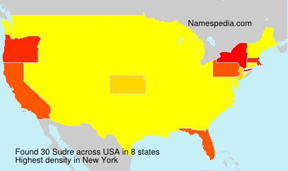 Surname Sudre in USA