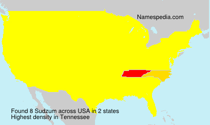 Surname Sudzum in USA