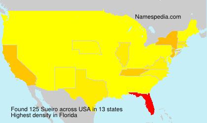 Surname Sueiro in USA