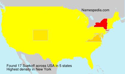 Surname Suekoff in USA