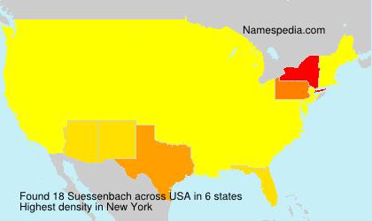 Familiennamen Suessenbach - USA