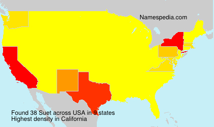 Surname Suet in USA