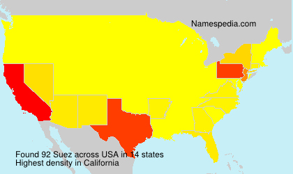 Surname Suez in USA