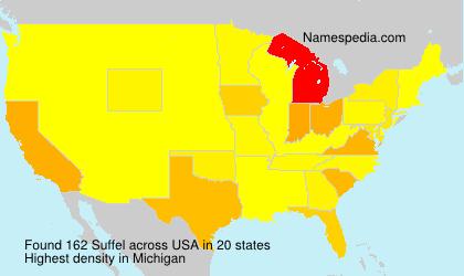 Familiennamen Suffel - USA
