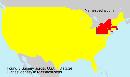 Surname Sugeiry in USA