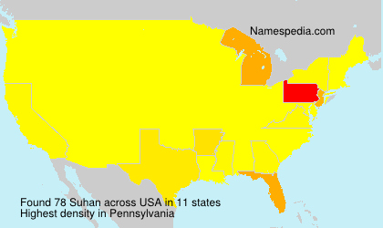 Surname Suhan in USA