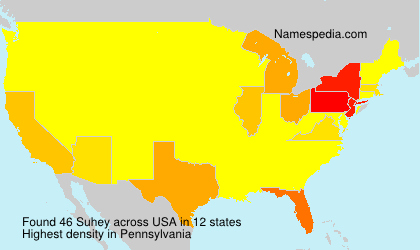 Surname Suhey in USA