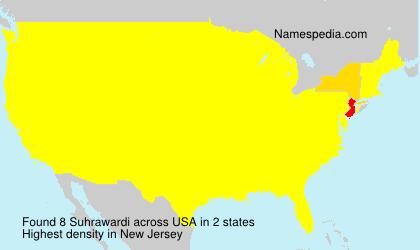 Surname Suhrawardi in USA
