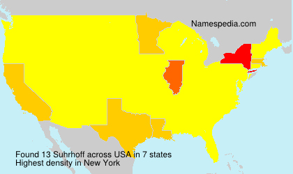 Surname Suhrhoff in USA