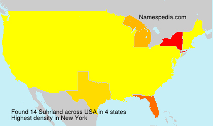 Surname Suhrland in USA
