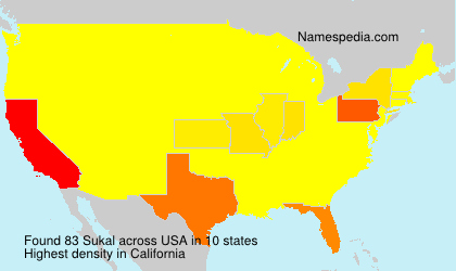Surname Sukal in USA