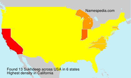 Surname Sukhdeep in USA
