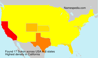 Surname Sukon in USA