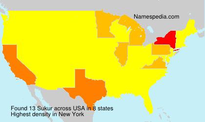 Familiennamen Sukur - USA
