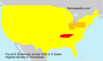 Surname Sulaimaan in USA