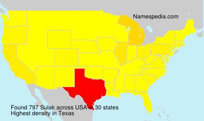 Surname Sulak in USA